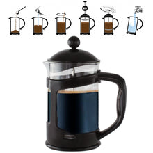 Load image into Gallery viewer, Black 28 Oz.French Press Coffee Tea Maker with Stainless Steel Filter