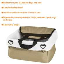 Load image into Gallery viewer, Dog Booster Seat – Pet Booster Seat - Dog Car Seat For Small Dogs – Pet Car Seat