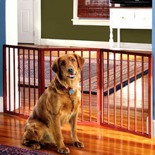 "Load image into Gallery viewer, Adjustable Extra Wide Pet Gate – 54"" Freestanding Dog Gate - Pet Fence"