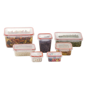 14 Pcs Plastic Food Storage Containers Set With Air Tight Locking Lids