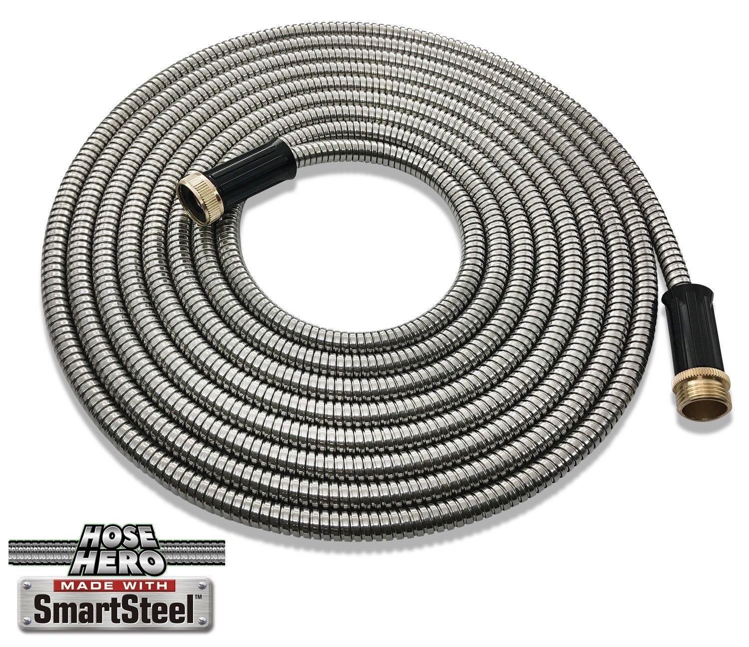 Hose Hero As Seen On TV Smart Steel Light Weight 25 Feet Metal Garden Hose