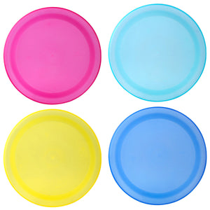 Colorful Sturdy Reusable Dinner Plates - Party BPA - Free Plastic Plates