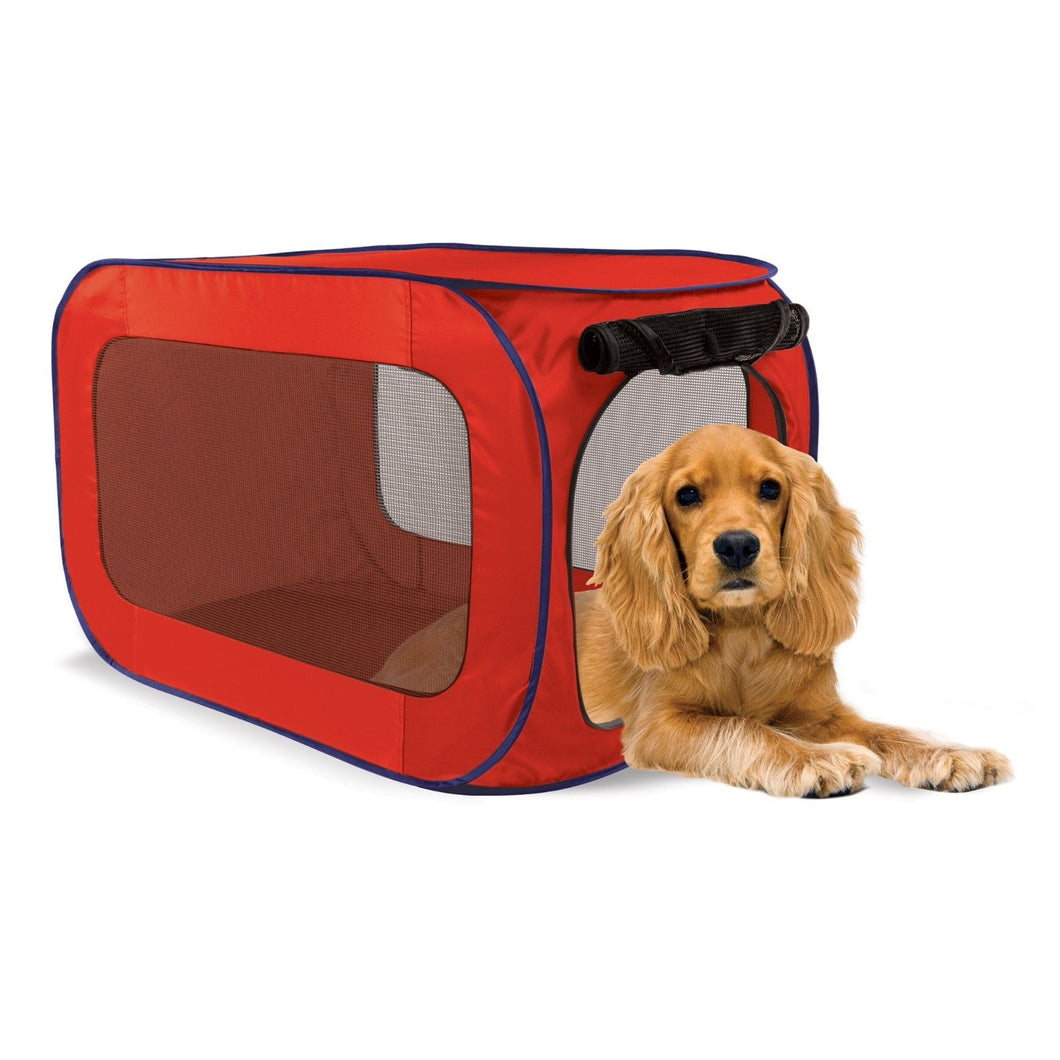 Red Pop Open Pet Dog Kennel - Pop up 33 1/2