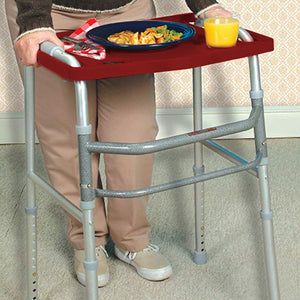 Red Walker Tray With Cup Holder – Universal Adult Walker Tray