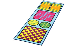 Children 4 in 1 Game Play Rug Games for Kids Checkers Tic Tac Toe Backgammon