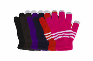 6 Pack Knit Touch Screen Texting Gloves - Winter Texting Active for Smartphone