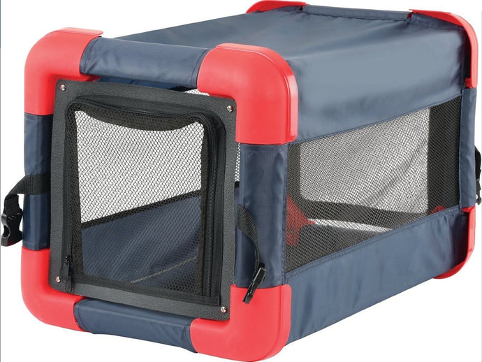 Pop Up Dog Cat Crate For Small Dogs – Collapsible Soft Sided Pet Crate
