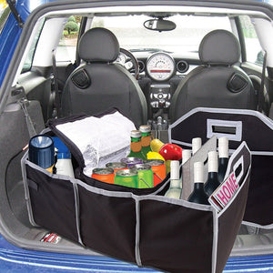 2 in 1 Trunk Organizer & Cooler Set - Fully Collapsible & Portable Storage Set