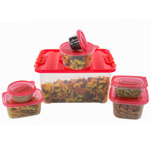 Load image into Gallery viewer, 58 Piece Plastic Food Container Set - 29 Plastic Storage Containers with Air Tight Lids Red