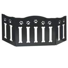 Load image into Gallery viewer, Solid Wood Folding Dog Pet Gate - Wooden Pet Gates Black
