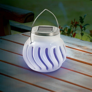 Solar Powered Ceramic Bug Zapper - Charges By Day And Kills Insects At Night