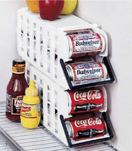 Load image into Gallery viewer, Store N' Tote Stackable Can Dispenser Durable Plastic Can Holder Rack One