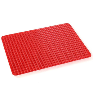 Premium Healthy Chef Baking Mat - Raised Pyramid Non-Stick Baking Sheet - Red