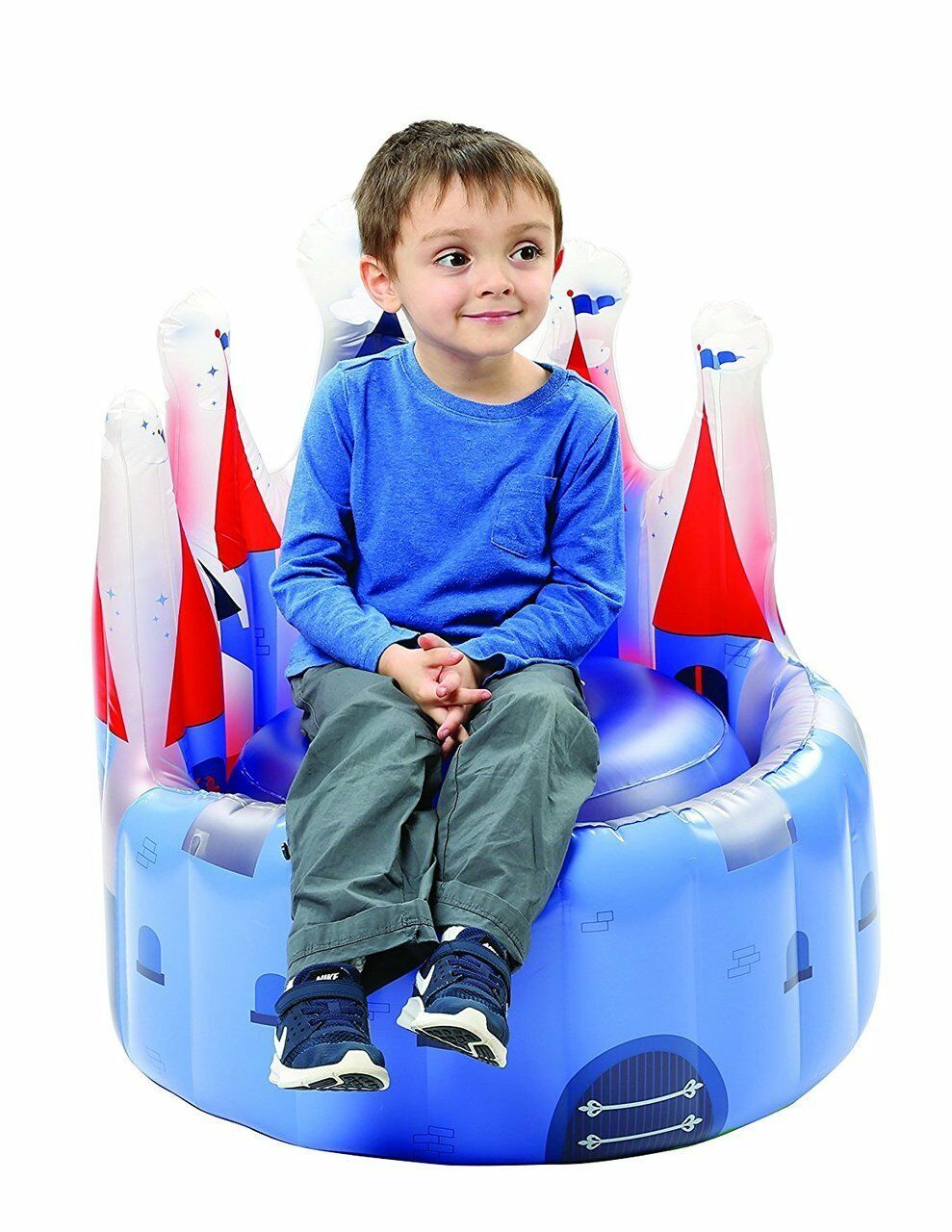 "Blue Castle Knights Kids Boy 22"" Inflatable Chair"
