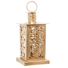 Load image into Gallery viewer, Metal Gold Moroccan Lantern Candle Holder - Tea Light Candle Holder