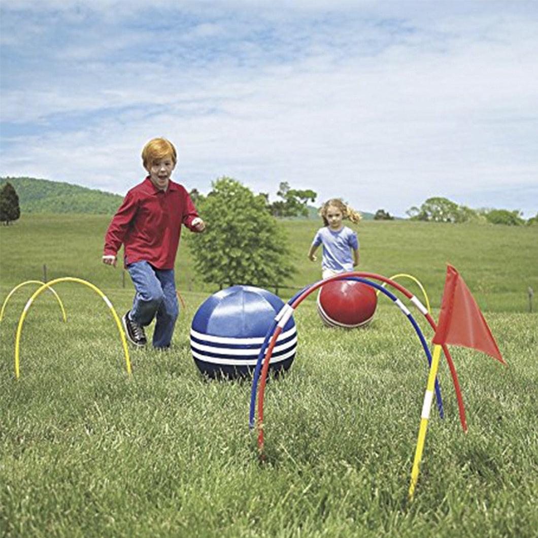 Kids Kick Croquet Set - Child Outdoor Kicking Games