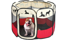 Load image into Gallery viewer, Portable Large Outdoor Indoor Puppy Dog Pen - Dog Silhouettes Print Dog Playpen