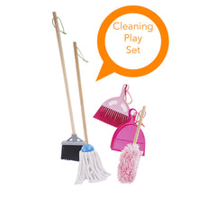 Load image into Gallery viewer, Kids Cleaning Play Set - 6 pcs. Clean Up Play Set With Wooden Handle