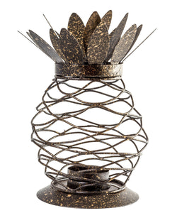 Metal Black Finish Pineapple Lantern Tealight Candle Holder