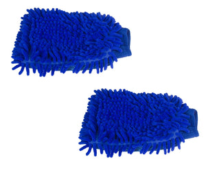 2 Pack Microfiber Car Wash Glove Knobby - Jumbo Car Washing Mitt Gloves