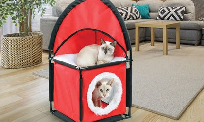 Soft Cozy & Stylish Cat Play House & Pet Indoor Outdoor Playing House