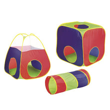 Load image into Gallery viewer, Kids Big Play Tent With Tunnel Large Colorful Playing Tent - Tunnel & Carry Case