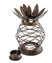 Load image into Gallery viewer, Metal Black Finish Pineapple Lantern Tealight Candle Holder