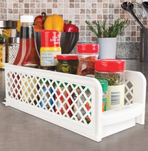 Load image into Gallery viewer, Kitchen Bathroom Plastic 2 Tier Basket Organizer Storage