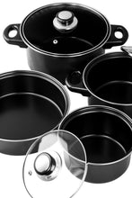Load image into Gallery viewer, Professional Quality Nonstick Carbon Steel 7 pcs. Cookware Set - Black