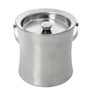 Brushed Stainless Steel Double Wall Ice Bucket With Air Tight Lid