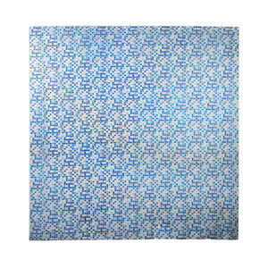 Colorful Long Shower Curtain - Plastic Bathroom Curtains - Blue