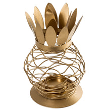 Load image into Gallery viewer, Metal Gold Finish Pineapple Lantern Tealight Candle Holder