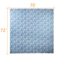 Load image into Gallery viewer, Colorful Long Shower Curtain - Plastic Bathroom Curtains - Blue