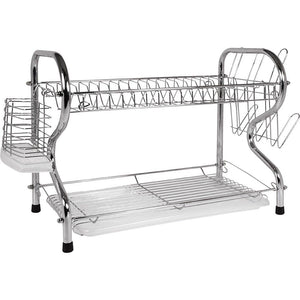 Better Chef High Quality Chrome Dish Drainer 2 Layer Rack Dish Holder / Rack