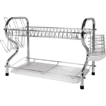 Load image into Gallery viewer, Better Chef High Quality Chrome Dish Drainer 2 Layer Rack Dish Holder / Rack