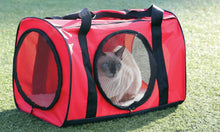 Load image into Gallery viewer, Red Large Cat Carrier Travel Bag W/ Tunnel - Soft Pet Carrier For Dog Kitty Cat
