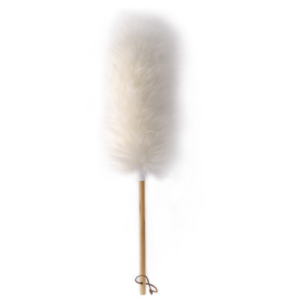 Long Duster With Wooden Handle - Cobweb 23
