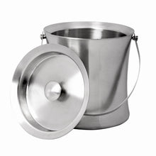 Load image into Gallery viewer, Brushed Stainless Steel Double Wall Ice Bucket With Air Tight Lid