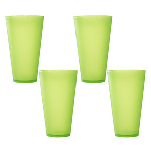 6 Pack Green Reusable Party Cups - Cute Picnic Drinkware