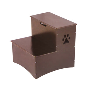 Wooden Pet Dog Steps With Storage - Wood Pet Step With Storage