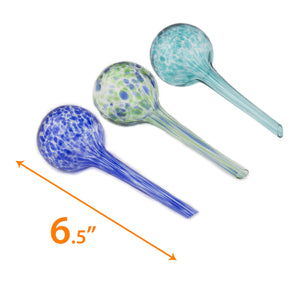 Aqua Watering Globes Mini Plant Watering Glass Bulbs - Watering Globe Kit 3 Pack