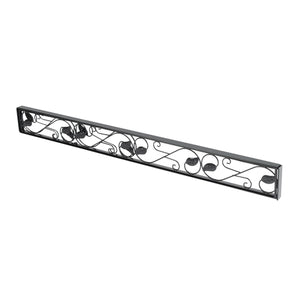 Adjustable Sliding Door Lock Bar - Durable Iron Glass Door Lock Bar
