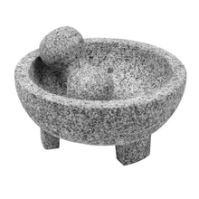 "Load image into Gallery viewer, Imperial Home 8"" Granite Mexican Molcajete Mortar and Pestle Spice Grinder"