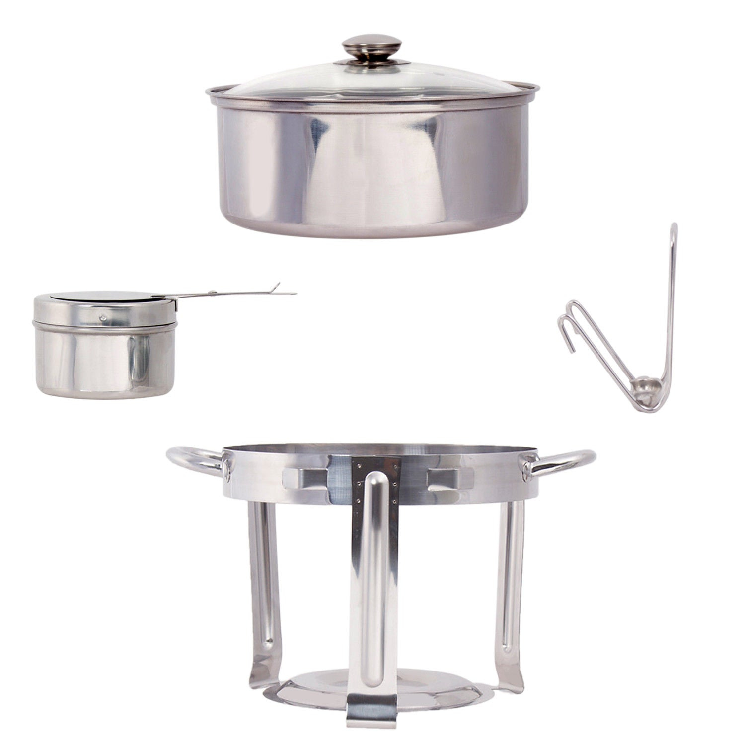Stainless Steel Chafing Dish Set 4.5 QT Party Buffet Round Chafing Dish Pot Set