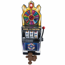 Load image into Gallery viewer, Miniature Wheel Of Fortune Slot Machine Bank - Money Bank Mini Slot Machine