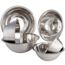 Load image into Gallery viewer, High Quality Large Stainless Steel 6 pcs Mixing Bowl Set - Free Measuring Spoons