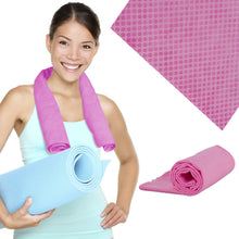 Load image into Gallery viewer, Pink Cooling Towel - Reusable Instant Cool Gym, Running, Outdoor or Beach Towel