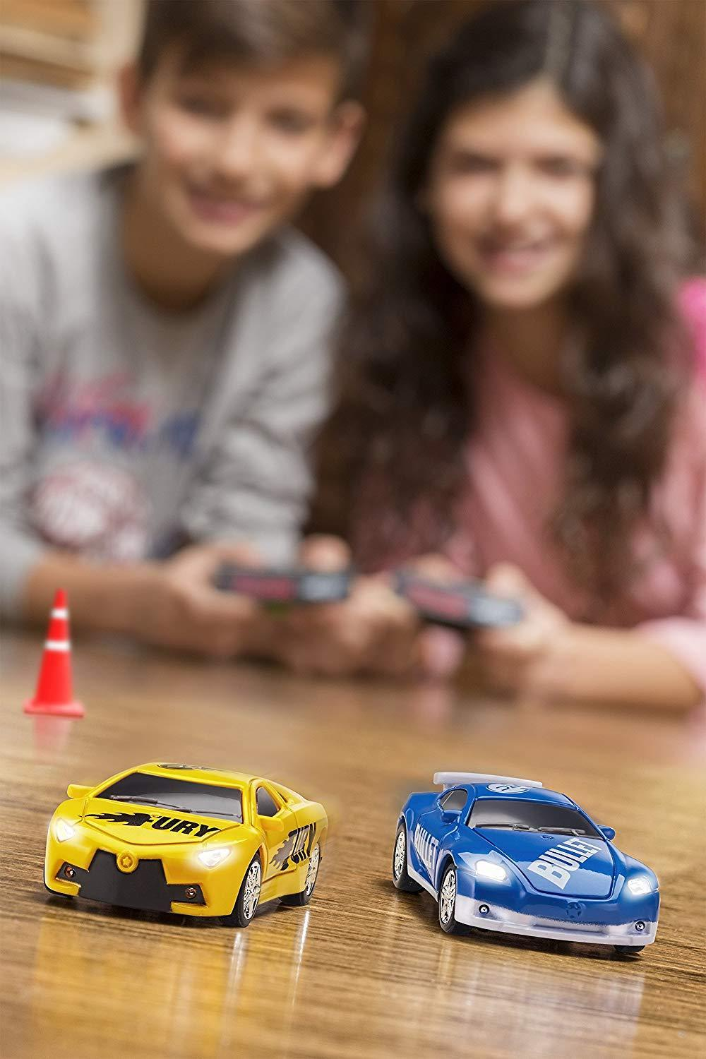 RC Pocket Racer Remote Controlled Micro Race Car Vehicle & Road As Seen On TV