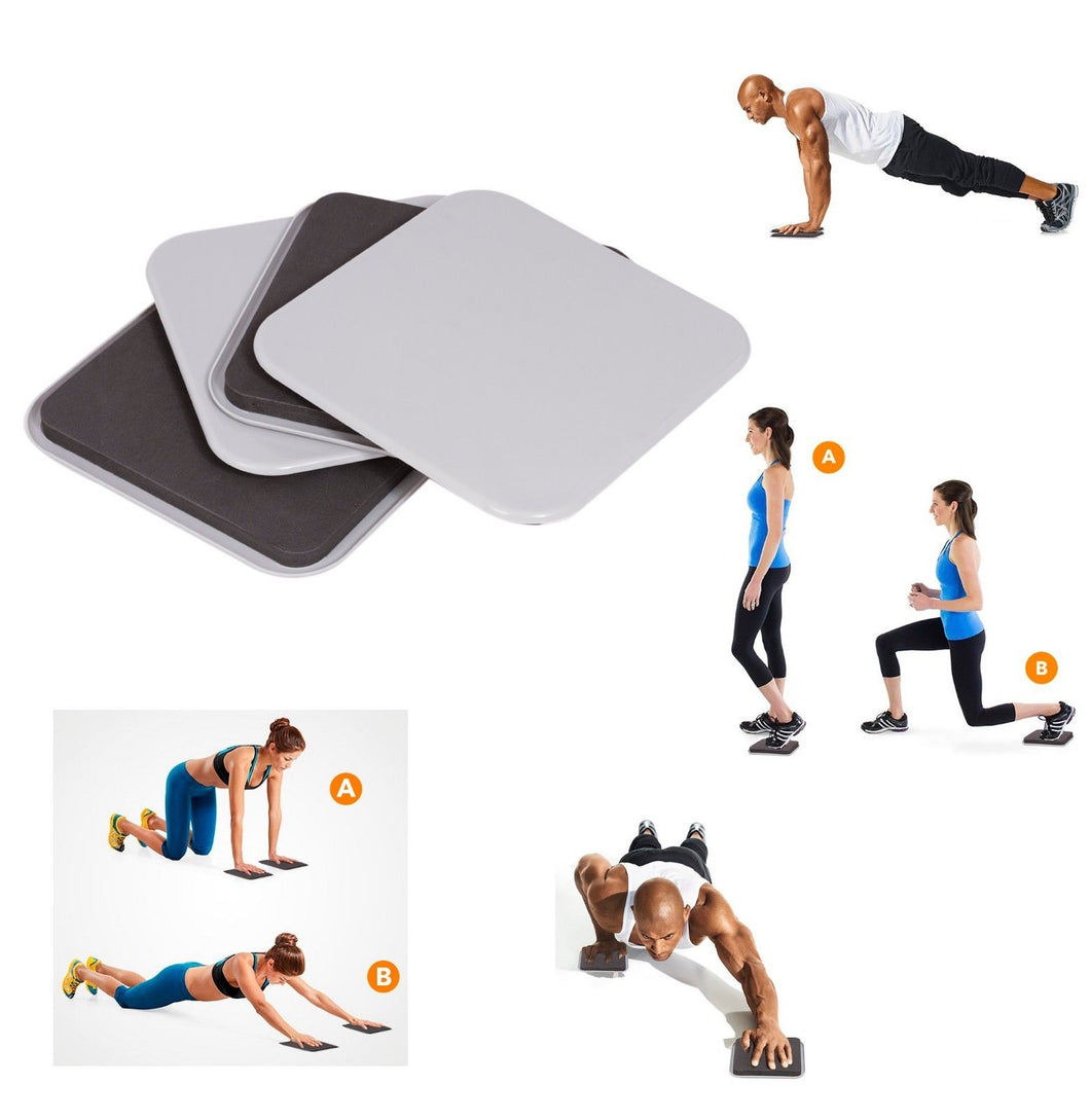 2 Set Exercise Sliding Workout Pads - 2 Set Gliding Fitness Disc