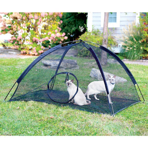 Portable Dome Mesh Cat Pen With Carrying Bag - Outdoor / Indoor